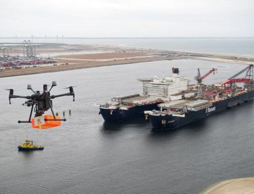 First Drone Delivery for Pioneering Spirit